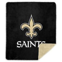 NFL New Orleans Saints Denali Sliver Knit Throw Blanket