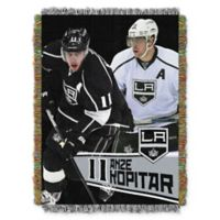 NHL Los Angeles Kings Anze Hopitar Player Woven Tapestry Throw Blanket