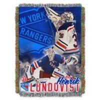 NHL New York Rangers Henrik Lundqvist Player Woven Tapestry Throw Blanket