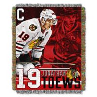 NHL Chicago Blackhawks Jonathan Toews Player Woven Tapestry Throw Blanket
