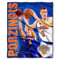 NBA New York Knicks Kristaps Porzingis Throw Blanket