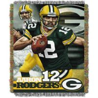 "NFL Green Bay Packers Aaron Rodgers ""Players"" Tapestry Throw Blanket"