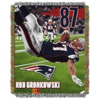 """NFL New England Patriots Rob Gronkowski """"Players"""" Tapestry Throw Blanket"""