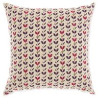 Mina Victory by Nourison Leaves Square Throw Pillow in Natural