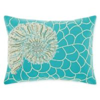 Mina Victory by Nourison Nautilus Oblong Throw Pillow in Turquoise