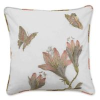 Waverly® Laurel Springs Embroidered Square Throw Pillow in White
