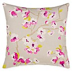 Grouchy Goose Cherry Blossom Square Throw Pillow in Magenta