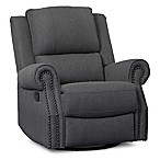 Delta Children Dylan Nursery Glider Swivel Recliner in Charcoal
