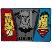 "DC Comics Justice League 2'6"" x 4' Area Rug in Blue"