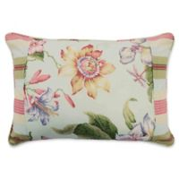 Waverly® Laurel Springs Pieced Oblong Throw Pillow in Opal