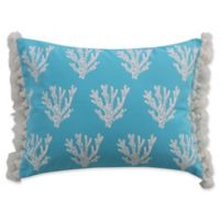 Levtex Home Lagos Coral Tassel Oblong Throw Pillow in Teal