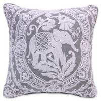 Levtex Home Valen Spa Elephant Square Throw Pillow in Grey