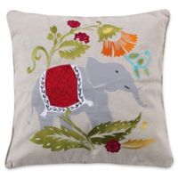 Levtex Home Medea Elephant Square Throw Pillow in Taupe