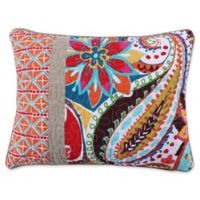 Levtex Home Sakari Pieced Oblong Throw Pillow in White/Red