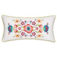 Teagan Oblong Throw Pillow in White