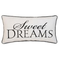 """""""Sweet Dreams"""" Embroidered Throw Pillow"""