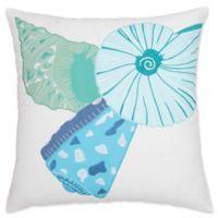 Nautilus Trio Throw Pillow in Blue