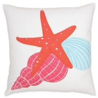 Starfish Trio Throw Pillow in Pink