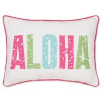 "Isla Tropics ""Aloha"" Oblong Throw Pillow"
