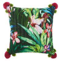 Mina Victory By Nourison Royal Palm Square Throw Pillow in Green