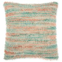 Mina Victory By Nourison Space-Dyed Square Throw Pillow in Teal