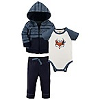 Yoga Sprout Size 0-3M 3-Piece Hooded Jacket, Bodysuit, and Pant Set in Navy