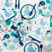 Creative Converting™ 81-Piece Blue Baby Whale Baby Shower Kit