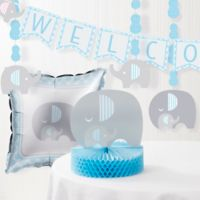 Creative Converting™ 6-Piece Little Peanut Boy Elephant Baby Shower Decorating Kit