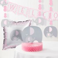 Creative Converting™ 6-Piece Little Peanut Girl Elephant Baby Shower Decorating Kit
