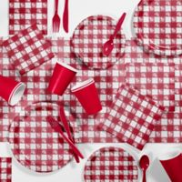 Creative Converting™ 85-Piece Red Gingham Picnic Supplies Kit