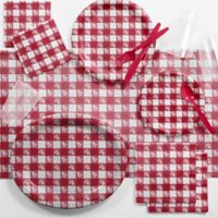 Creative Converting™ 93-Piece Deluxe Red Gingham Picnic Supplies Kit
