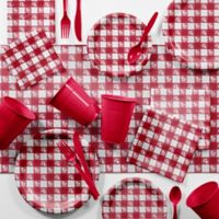 Creative Converting™ 401-Piece Red Gingham Bulk Picnic Supplies Kit
