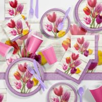 Creative Converting™ 81-Piece Beautiful Blooms Floral Party Supplies Kit