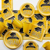 Creative Converting Graduation School Spirit 129-Piece Party Supplies Kit in Yellow