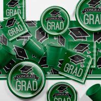 Creative Converting Graduation School Spirit 129-Piece Party Supplies Kit in Green