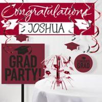 Creative Converting 11-Piece Burgundy Red School Grad Decorations Kit