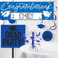Creative Converting 11-Piece Graduation School Spirit Decorations Kit in Blue