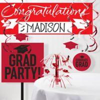 Creative Converting 11-Piece Graduation School Spirit Decorations Kit in Red