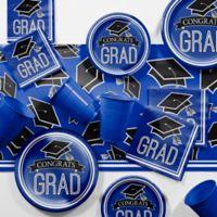 Creative Converting Graduation School Spirit 129-Piece Party Supplies Kit in Blue