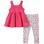 Calvin Klein Size 12M 2-Piece Fashion Top and Floral Legging Set in Pink