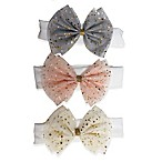 Curls & Pearls 3-Pack Stars Tulle Bow Headbands