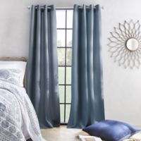 Skylar 84-Inch Grommet Window Curtain Panel in Denim