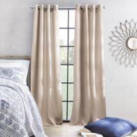 Skylar 108-Inch Grommet Window Curtain Panel in Linen