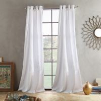 Skylar 108-Inch Grommet Window Curtain Panel in White