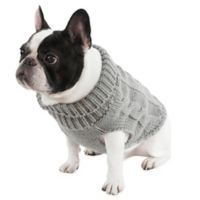 UGG® Cable Knit Medium Dog Sweater in Grey