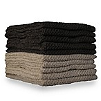 10-Pack Textured Washcloths in Lunar Rock