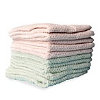 10-Pack Textured Washcloths in Moonlight Jade