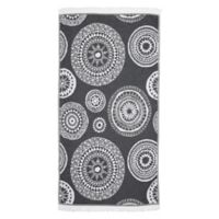 Linum Home Textiles Zarya Pestemal Beach Towel in Black