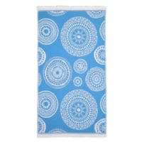 Linum Home Textiles Zarya Pestemal Beach Towel in Turquoise