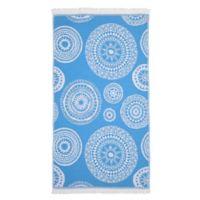Linum Home Textiles Zarya Pestemal Beach Towel in Turquoise